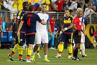 Action photo during the match United States vs Colombia, Corresponding Group -A- America Cup Centenary 2016, at Levis Stadium<br /> <br /> Foto de accion durante el partido Estados Unidos vs Colombia, Correspondiante al Grupo -A-  de la Copa America Centenario USA 2016 en el Estadio Levis, en la foto: i-d) Santiago Arias de Colombia y Clint Dempsey de USA<br /> <br /> <br /> 03/06/2016/MEXSPORT/Victor Posadas.