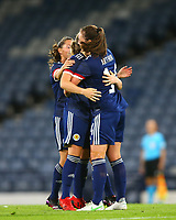 21st September 2021; Hampden Park, Glasgow, Scotland: FIFA Womens World Cup qualifying, Scotland versus Faroe Islands; Erin Cuthbert of Scotland celebrates making it 1-0 to Scotland in the 19th minute