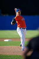 New York Mets starting pitcher Justin Wilson (29), on rehab assignment with the Syracuse Mets, delivers a pitch during a game against the Charlotte Knights on June 11, 2019 at NBT Bank Stadium in Syracuse, New York.  (Mike Janes/Four Seam Images)