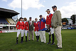 August 07, 2009: The US equestrian team discuss the course before competition. Meydan FEI Nations Cup. Failte Ireland Horse Show. The RDS, Dublin, Ireland.