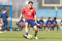 BRADENTON, FL - JANUARY 23: Aaron Long passes the ball during a training session at IMG Academy on January 23, 2021 in Bradenton, Florida.