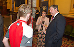 The Rt Hon Alistair Carmichael MP Secretary of State for Scotland hosted a reception at Glasgow City Chambers this evening to honour the volunteers of Glasgow 2014.<br /> Pic Kenny Smith, Kenny Smith Photography<br /> 6 Bluebell Grove, Kelty, Fife, KY4 0GX <br /> Tel 07809 450119,