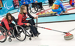 Sonja Gaudet, Sochi 2014 - Wheelchair Curling // Curling en fauteuil roulant.<br /> Canada takes on Sweden in Wheelchair Curling action // Le Canada affronte la Suède au curling en fauteuil roulant. 09/03/2014.