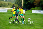 Fionn Daly of Kerry and Limerick County's Conor Clancy tussle for possession in the 2021 Kennedy Cup game