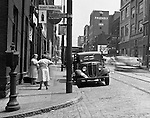 Pittsburgh PA:  View of Forbes Avenues and Hooper Street in the uptown section of Pittsburgh near Duquesne University.  The assignment was for a developer trying to get some of the buildings condemned so he could get them at a good price for future development.