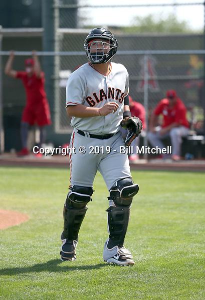 Jin-De Jhang - San Francisco Giants 2019 spring training (Bill Mitchell)