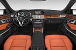 Stock photo of straight dashboard view of a 2015 Mercedes Benz E-Class E250 BlueTEC Luxury 4 Door Sedan