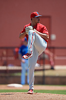 Philadelphia Phillies pitcher Julian Garcia (47) during a Minor League Spring Training game against the Toronto Blue Jays on March 29, 2019 at the Carpenter Complex in Clearwater, Florida.  (Mike Janes/Four Seam Images)