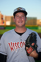 Wisconsin Timber Rattlers pitcher Eric Hanhold (30) poses for a photo before a game against the Peoria Chiefs on August 21, 2015 at Dozer Park in Peoria, Illinois.  Wisconsin defeated Peoria 2-1.  (Mike Janes/Four Seam Images)