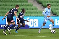 6th June 2021; AAMI Park, Melbourne, Victoria, Australia; A League Football, Melbourne Victory versus Melbourne City; Raphael Borges Rodrigues of Melbourne City moves the ball