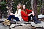 Girlfriends sitting in nature