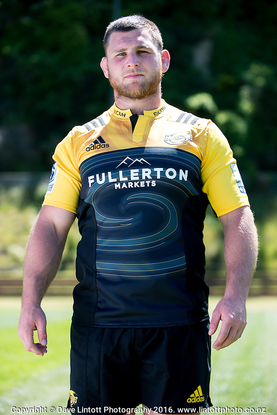 Reggie Goodes. 2017 Hurricanes Super Rugby headshot at Rugby League Park in Wellington, New Zealand on Wednesday, 14 December 2016. Photo: Dave Lintott / lintottphoto.co.nz