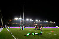 Photo: Richard Lane/Richard Lane Photography. Harlequins v Wasps.  European Rugby Champions Cup. 13/01/2018. Wasps warm up at The Stoop.