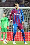 FC Barcelona's Gerard Pique during La Liga match. August 15, 2021. (ALTERPHOTOS/Acero)