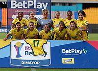 MEDELLIN - COLOMBIA, 16-08-2021: Deportivo Independiente Medellin y Atletico Bucaramanga durante partido de la Fase de Grupos de la fecha 8 por la Liga Femenina BetPlay DIMAYOR 2021 jugado en el estadio Atanasio Girardot de la ciudad de Medellin. / Deportivo Independiente Medellin and Atletico Bucaramanga during a match of the Group Phase the 8th date for the Women's League BetPlay DIMAYOR 2021 played at the Atanasio Girardot stadium in Medellin city. / Photo: VizzorImage / Donaldo Zuluaga / Cont.