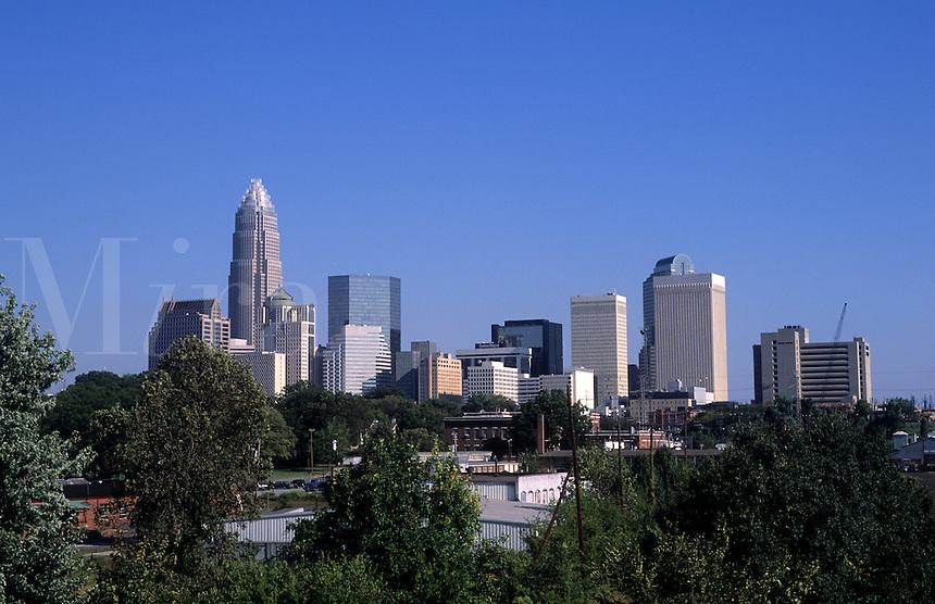 Skyline of downtown Charlotte, North Carolina, USA