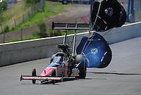 Jul. 24, 2011; Morrison, CO, USA: NHRA top fuel dragster driver Doug Kalitta during the Mile High Nationals at Bandimere Speedway. Mandatory Credit: Mark J. Rebilas-