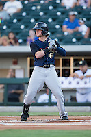 Ben Gamel (6) of the Scranton/Wilkes-Barre RailRiders at bat against the Charlotte Knights at BB&T BallPark on July 20, 2016 in Charlotte, North Carolina.  The RailRiders defeated the Knights 14-2.  (Brian Westerholt/Four Seam Images)