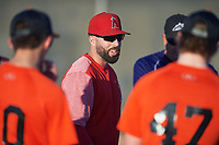 Ryan Barba coaches for the Orioles during the Under Armour Baseball Factory Recruiting Classic at Gene Autry Park on December 27, 2017 in Mesa, Arizona. (Zachary Lucy/Four Seam Images)