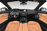 Stock photo of straight dashboard view of 2019 BMW Z4 M-Performance 2 Door Convertible Dashboard
