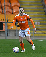 Blackpool's Oliver Turton<br /> <br /> Photographer Dave Howarth/CameraSport<br /> <br /> EFL Trophy - Northern Section - Group G - Blackpool v Leeds United U21 - Wednesday 11th November 2020 - Bloomfield Road - Blackpool<br />  <br /> World Copyright © 2020 CameraSport. All rights reserved. 43 Linden Ave. Countesthorpe. Leicester. England. LE8 5PG - Tel: +44 (0) 116 277 4147 - admin@camerasport.com - www.camerasport.com