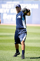 West Michigan Whitecaps Slade Smith #26 during practice before a game against the Bowling Green Hot Rods at Fifth Third Ballpark on June 26, 2012 in Comstock Park, Michigan.  West Michigan defeated Bowling Green 13-11.  (Mike Janes/Four Seam Images)