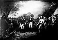 The Surrender of General Burgoyne at Saratoga.  October 1777.  Copy of painting by John Trumbull, 1820-21. (Dept. of Agriculture)<br /> Exact Date Shot Unknown<br /> NARA FILE #:  016-AD-8<br /> WAR & CONFLICT #:  33
