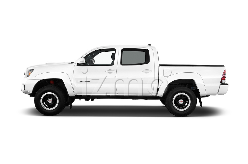 Car Driver side profile view of a 2015 Toyota Tacoma TRD Pro 4 Door Pickup Side View