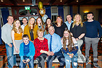 Mary&Eddie Leen from Crotta, Lixnaw celebrated their 50th wedding anniversary in the Meadowlands hotel, Tralee last Saturday evening, also seated. Thomas Enright, Lt and Sophie Holden, Rt. Back L-R John Holden, Michelle Buckley, Aiden O'Hara, Sandra Leen, MaryAnn Canavan, Sarah Leen, Caroline Holden with Tom, MaryTeresa&Ed Enright.