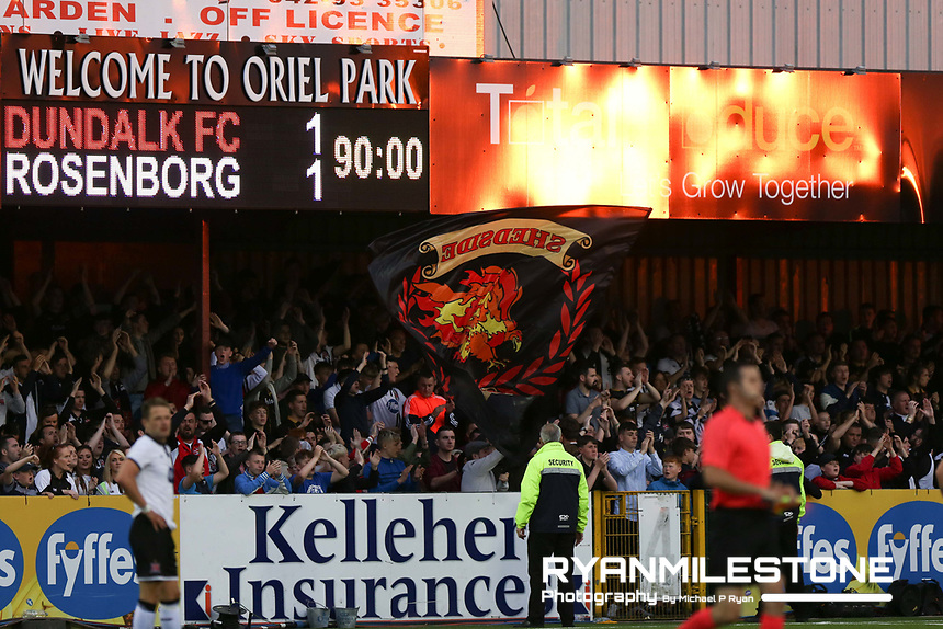 UEFA Champions League Second Qualifying Round, Dundalk FC vs Rosenborg, Wednesday 12th July 2017, Oriel Park, Co Louth, View of the final score, Credit: Michael P Ryan