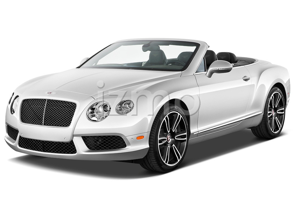 Front three quarter view of a 2013 - 2014 Bentley Continental GTC Convertible.