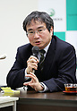 Nuclear Regulation Authority (NRA)'s new Secretary General Masaya Yasui attends press conference