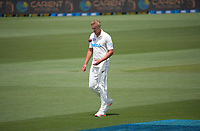 NZ's Kyle Jamieson preapres to bowl during day four of the second International Test Cricket match between the New Zealand Black Caps and Pakistan at Hagley Oval in Christchurch, New Zealand on Wednesday, 6 January 2021. Photo: Dave Lintott / lintottphoto.co.nz