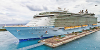 Allure of the Seas at dock at Nassau, in the Bahamas.
