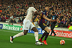 UEFA Champions League 2018/2019.<br /> Quarter-finals 2nd leg.<br /> FC Barcelona vs Manchester United: 3-0.<br /> Paul Pogba vs Sergi Roberto.