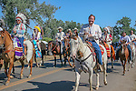 Montana Governor Brian Schweitzer rides in the parade at Crow Fair, Crow Agency MT. Aug 21, 2005