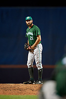 Daytona Tortugas relief pitcher Ryan Hendrix (21) gets ready to deliver a pitch during a game against the St. Lucie Mets on August 3, 2018 at First Data Field in Port St. Lucie, Florida.  Daytona defeated St. Lucie 3-2.  (Mike Janes/Four Seam Images)