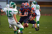 Attica Blue Devils varsity football against the Pembroke Dragons at Attica Central School on September 11, 2015 in Attica, New York.  Attica defeated Pembroke 36-0.  (Copyright Mike Janes Photography)