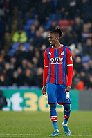 Wilfried Zaha of Crystal Palace seen during the Premier League match between Crystal Palace and Brighton and Hove Albion at Selhurst Park, London, England on 16 December 2019. Photo by Carlton Myrie / PRiME Media Images.