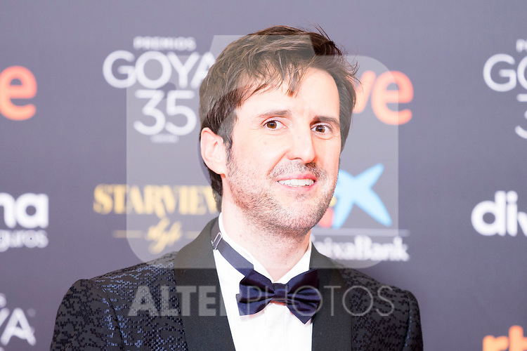 Actor Julian Lopez attends the red carpet previous to Goya Awards 2021 Gala in Malaga . March 06, 2021. (Alterphotos/Francis González)