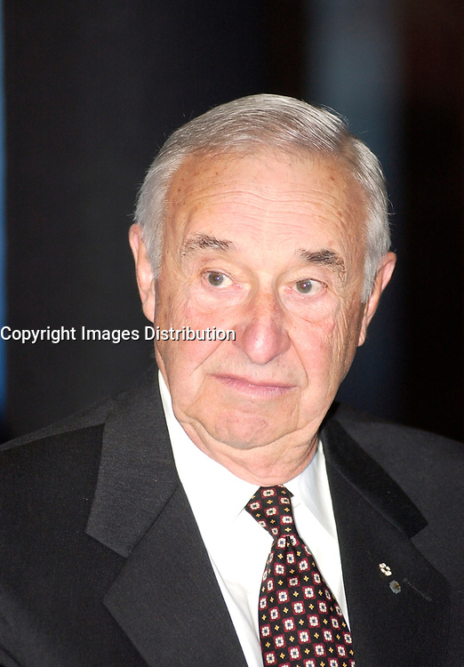 Jan 16, 2002, Montreal, Quebec, Canada; <br /> <br /> Private donator Jean Coutu , owner of Jean Coutu pharmacy chain adress the media about his donation of 12,5  Million $ (Can) to the University of Montreal, as part of a  77,5 Million (Canadian) $ biomedical complex , at a press conference today,January 16, 2002 in Montreal, CANADA <br /> <br /> Quebec Vice Premier , Pauline Marois  confirmed that the Gouvernement du Québec would contribute $60 million dollars for these<br /> projects.  Finally the Université de Montréal will<br /> provide an additional amount of $ 5 million.<br /> Coutu donation is the largest private donation ever made to a french speaking University.<br /> <br /> (Mandatory Credit: Photo by Sevy - Images Distribution (©) Copyright 2002 by Sevy<br /> <br /> NOTE :  D-1 H original JPEG, saved as Adobe 1998 RGB