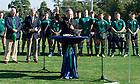 Sept. 28, 2013; University President Rev. John I. Jenkins, C.S.C, blesses the field during the  Stinson Rugby Field dedication. Photo by Barbara Johnston/University of Notre Dame