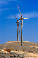 Wind farm on  Kefalonia, Ionian Islands, Greece.