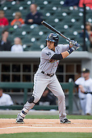 Ramon Flores (31) of the Scranton\Wilkes-Barre RailRiders at bat against the Charlotte Knights at BB&T BallPark on May 1, 2015 in Charlotte, North Carolina.  The RailRiders defeated the Knights 5-4.  (Brian Westerholt/Four Seam Images)