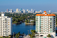 Ft. Lauderdale, Florida.  Skyline View from Seabreeze Boulevard.