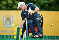 August 12, 2014, Netherlands, Raalte, TV Ramele, Tennis, National Championships, NRTK,  Umpire Peter van de Hooven<br /> Photo: Tennisimages/Henk Koster
