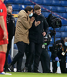 26.11 2020 Rangers v Benfica: Steven Gerrard commiserated by Benfica at full time