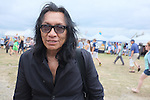 Rodriguez stops for a portrait as he strolls the grounds of Fort Adams before he performs at the Newport Folk Festival in Newport, R.I. on Sunday, July 29, 2012. (AP Photo/Joe Giblin)