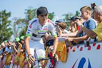 Warren Barguil (FRA/Team Fortuneo Samsic)<br /> <br /> Stage 1: Noirmoutier-en-l'Île > Fontenay-le-Comte (189km)<br /> <br /> Le Grand Départ 2018<br /> 105th Tour de France 2018<br /> ©kramon
