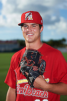 Palm Beach Cardinals pitcher Dakota Hudson (36) poses for a photo before a game against the Jupiter Hammerheads  on August 12, 2016 at Roger Dean Stadium in Jupiter, Florida.  Jupiter defeated Palm Beach 9-0.  (Mike Janes/Four Seam Images)